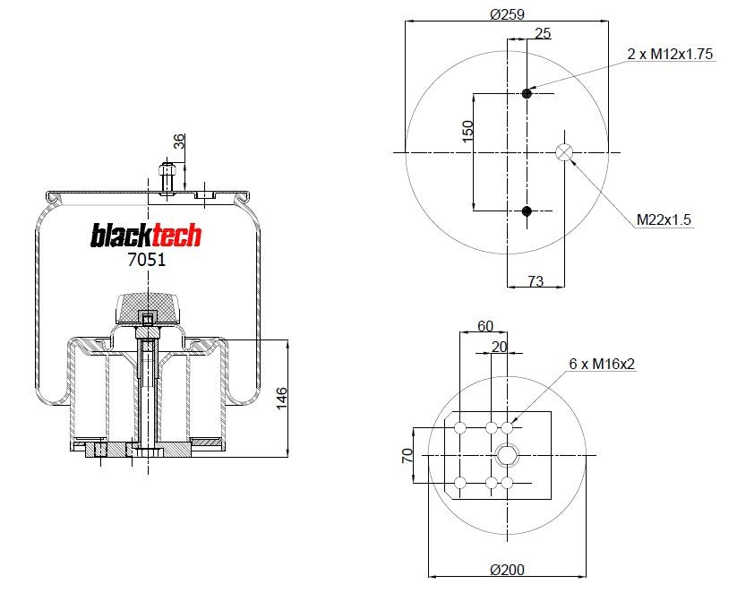 Luftfederbalg RML 7051 CP