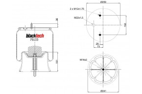 Luftfederbalg RML 75133 CP5