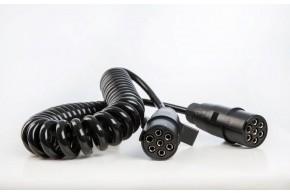 24V Spiralkabel, 2 x 7-polig, N Stecker, 3,5 m