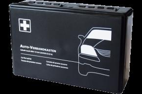 KFZ-Verbandkasten, schwarz, Füllung DIN 13164